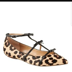 Banana Republic Haircalf Leopard Animal Print Flat